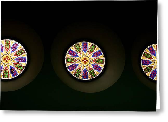 True Cross Greeting Cards - Kaleidoscope Window  Greeting Card by Lorraine Devon Wilke