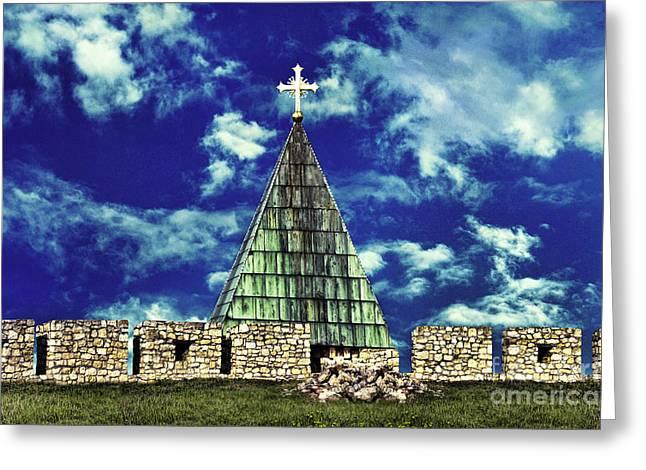 Kalemegdan Greeting Cards - Kalemegdan Fortress Church Greeting Card by Milan Karadzic