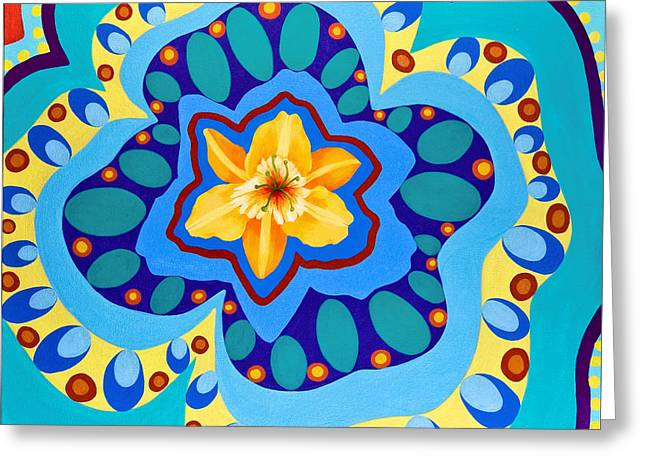 Bright Sculptures Greeting Cards - Kaliedoscope Greeting Card by Linda Rauch