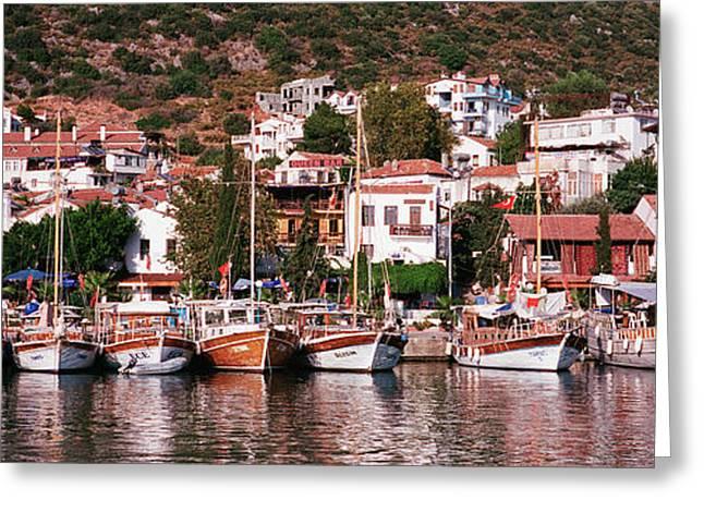 Kalkan, Turkey Greeting Card by Panoramic Images