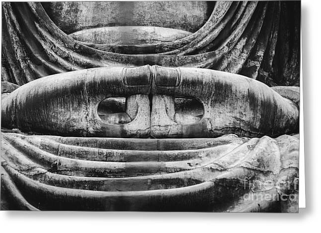 Meditative Greeting Cards - Kamakura Buddha V - Daibutsu Greeting Card by Dean Harte