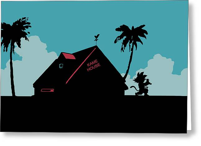 Xbox Greeting Cards - Kame House Greeting Card by Danilo Caro