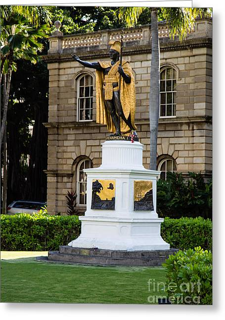 Independance Greeting Cards - Kamehameha the Great Greeting Card by Jon Burch Photography