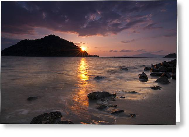 Landscape. Scenic Greeting Cards - Kameshima Sunrise Greeting Card by Aaron S Bedell