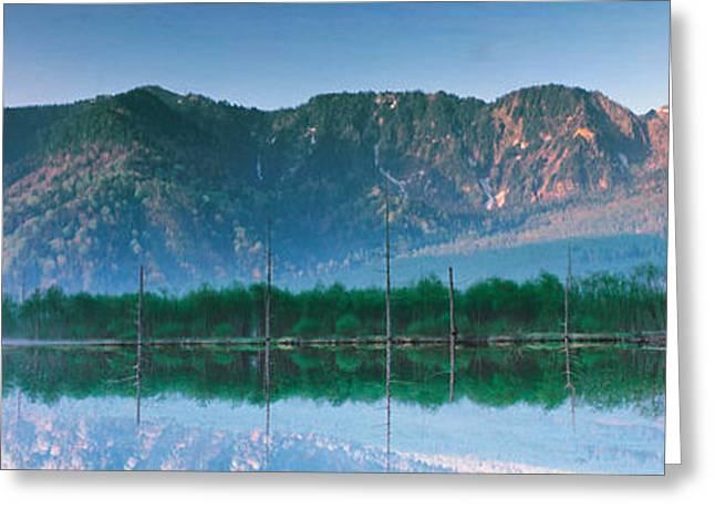 Ike Greeting Cards - Kamikouch Taisho-ike Nagano Japan Greeting Card by Panoramic Images