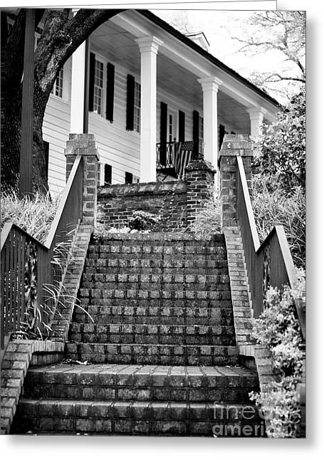 Old School House Greeting Cards - Kaminski Stairs Greeting Card by John Rizzuto