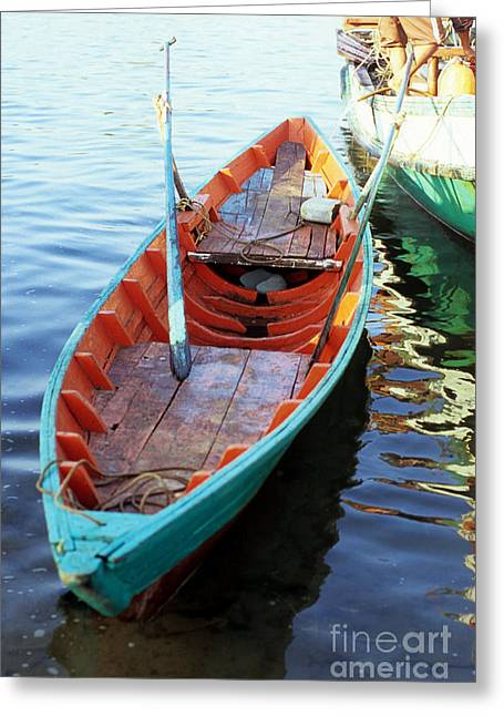 Indochine Greeting Cards - Kampot Boat 09 Greeting Card by Rick Piper Photography