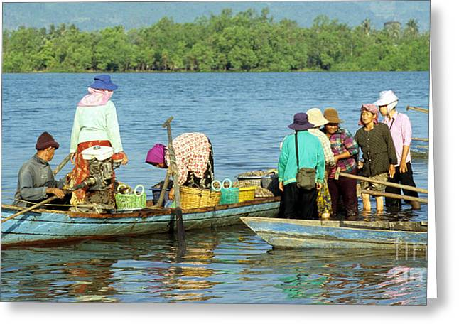 Cambodia Greeting Cards - Kampot River Greeting Card by Rick Piper Photography