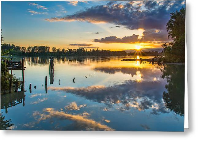 Beautiful Creek Greeting Cards - Kanaka Creek Colours Greeting Card by James Wheeler