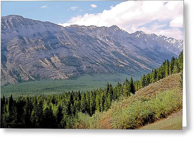 Mountainous Paintings Greeting Cards - Kananaskis After the Rain 2 Greeting Card by Terry Reynoldson