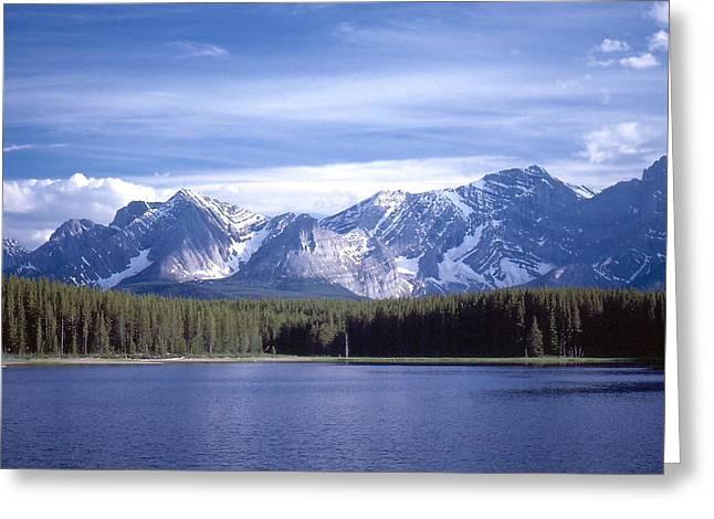 Alberta Greeting Cards - Kananaskis Mountains Lake Greeting Card by Jim Sauchyn