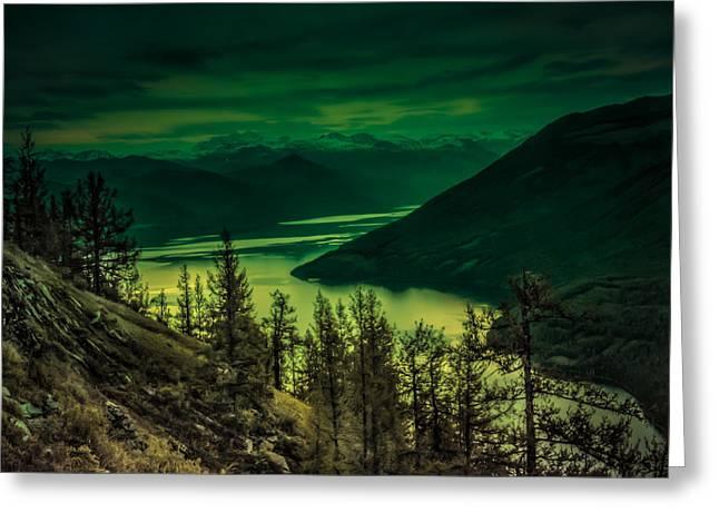 Kanasi Lake 2 China Greeting Card by Lijie Zhou