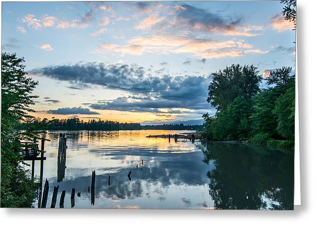 Beautiful Creek Greeting Cards - Kanata Creek Sunset Greeting Card by James Wheeler