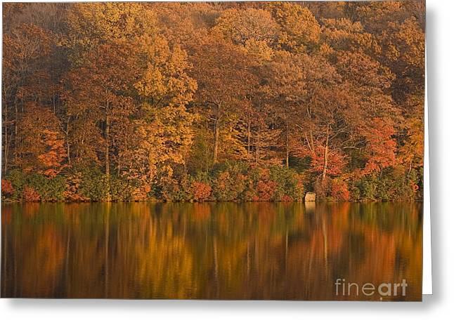 Pictorial Landscape Greeting Cards - Kanawauke Lake Sundown Greeting Card by Susan Candelario