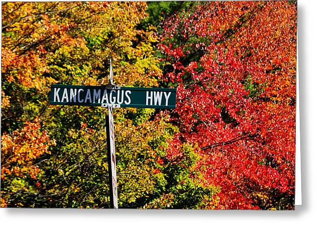 Foliage In White Mountains Greeting Cards - Kancamagus Scenic Byway Greeting Card by Luke Moore