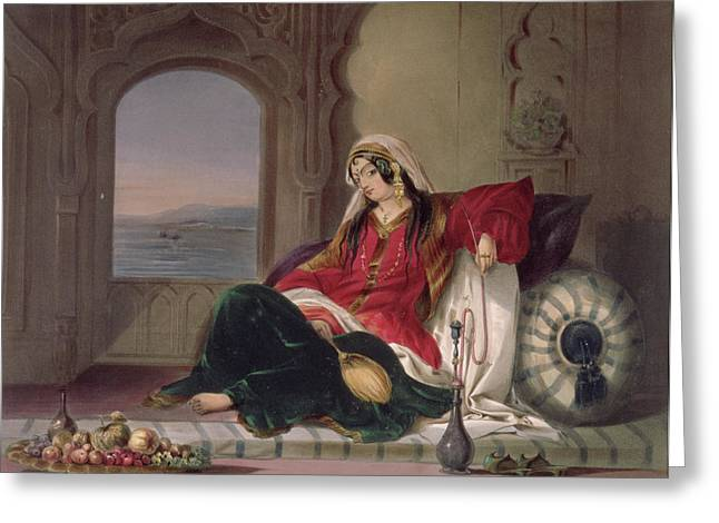 Smoker Greeting Cards - Kandahar Lady Of Rank Greeting Card by James Rattray