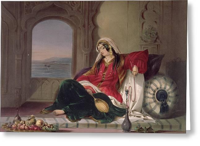 Kandahar Lady Of Rank Greeting Card by James Rattray