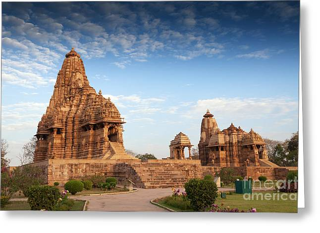 Mahadeva Greeting Cards - Kandariya Mahadeva Temple Khajuraho India UNESCO world heritage site Greeting Card by Rudra Narayan  Mitra