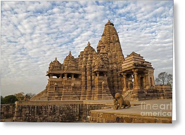 Mahadeva Greeting Cards - Kandariya Mahadeva Temple Khajuraho Greeting Card by Rudra Narayan  Mitra