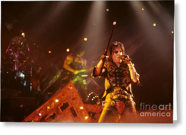 Kane Greeting Cards - Kane Roberts and Alice Cooper Greeting Card by Rich Fuscia