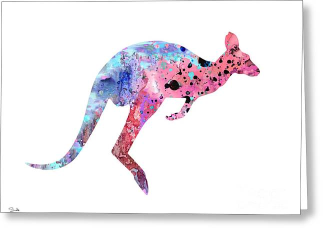 Kangaroo Greeting Cards - Kangaroo 2 Greeting Card by Luke and Slavi