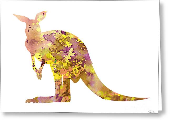 Kangaroo Greeting Cards - Kangaroo Greeting Card by Luke and Slavi