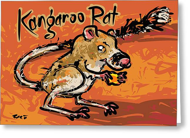 Kangaroo Drawings Greeting Cards - Kangaroo Rat Greeting Card by Brett LaGue