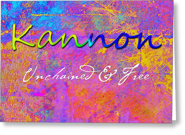 Expressionism Greeting Cards - Kannon - Unchained and Free Greeting Card by Christopher Gaston