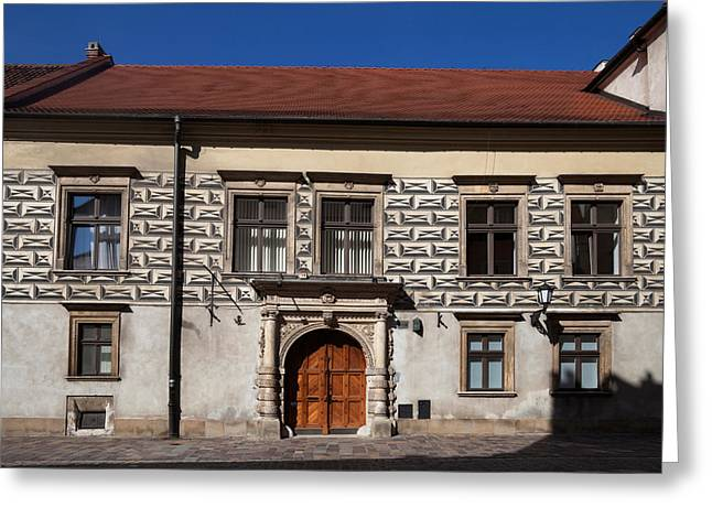 Krakow Greeting Cards - Kanonicza Street And The Archdiocese Greeting Card by Panoramic Images