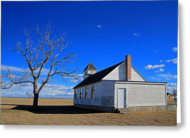 Sante Fe Trail Greeting Cards - Kansas Church Greeting Card by Christopher McKenzie