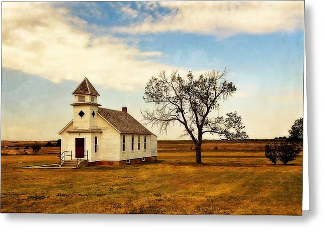 Kansas Church Greeting Card by Marty Koch