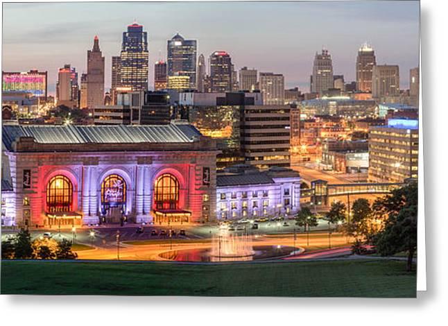 Kansas City Greeting Cards - Kansas City 2 Greeting Card by Ken Kobe