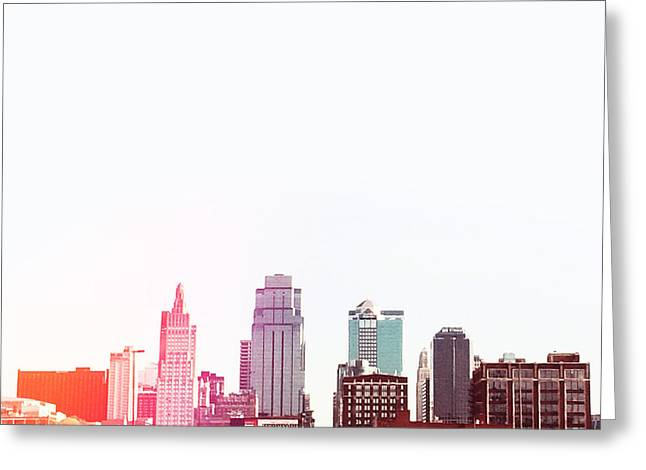 City Buildings Digital Greeting Cards - Kansas City #2 Greeting Card by Stacia Blase
