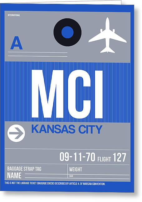 Tourists Greeting Cards - Kansas City Airport Poster 2 Greeting Card by Naxart Studio