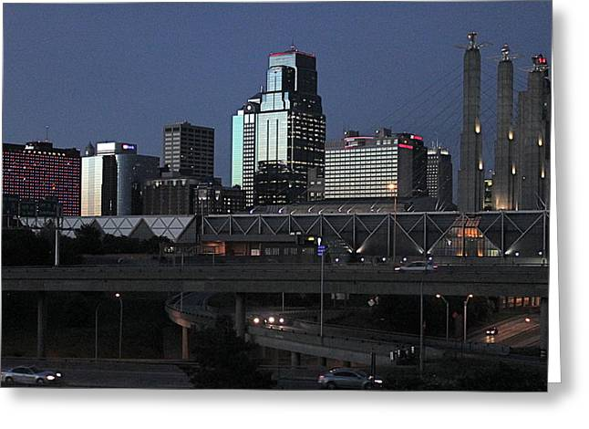 Kansas City at Dusk Greeting Card by Patricio Lazen