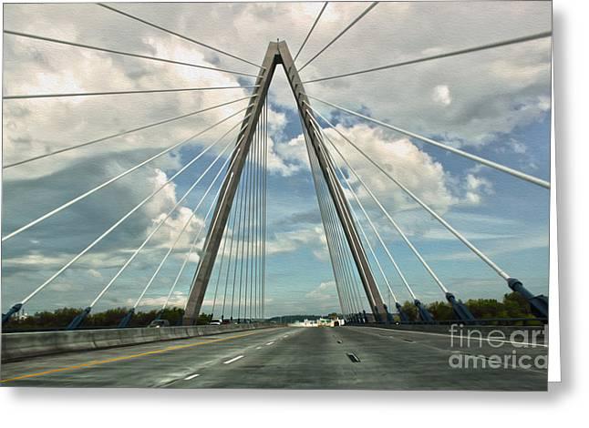 Kansas City Bridge - 01 Greeting Card by Gregory Dyer
