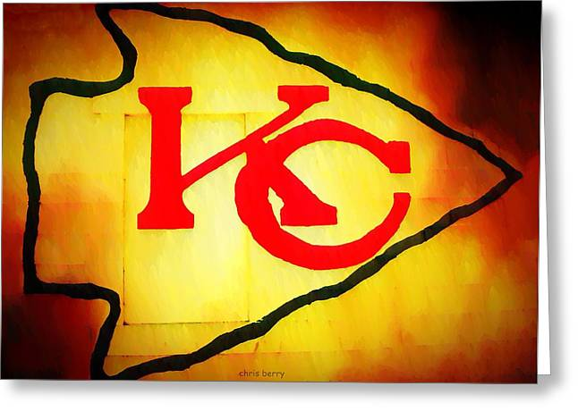 Football Photographs Greeting Cards - Kansas City Chiefs Graffiti  Greeting Card by Chris Berry