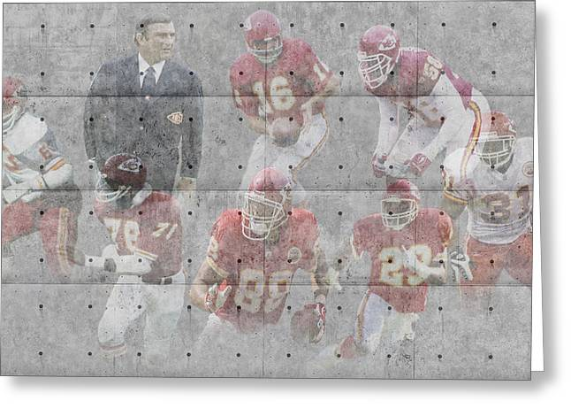 Offense Greeting Cards - Kansas City Chiefs Legends Greeting Card by Joe Hamilton