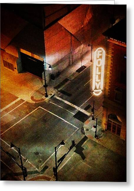 Cellphone Greeting Cards - Kansas City - Folly Theater 1 Greeting Card by Richard Reeve