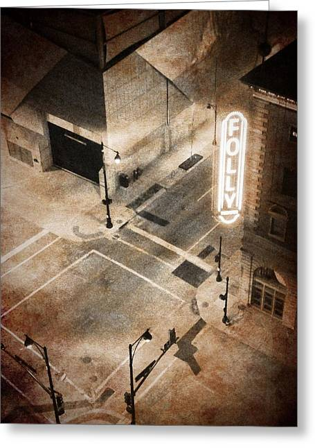 Cellphone Greeting Cards - Kansas City - Folly Theater 2 Greeting Card by Richard Reeve
