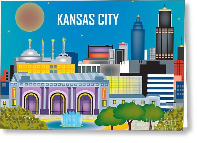 Kansas City Greeting Cards - Kansas City Greeting Card by Karen Young