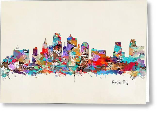 Kansas City Paintings Greeting Cards - Kansas City Missouri Greeting Card by Bri Buckley