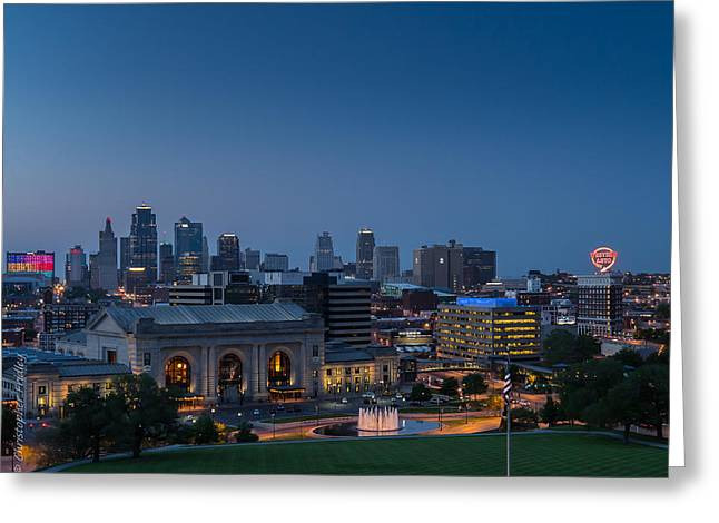 Christopher Fridley Greeting Cards - Kansas City Missouri Greeting Card by Christopher Fridley