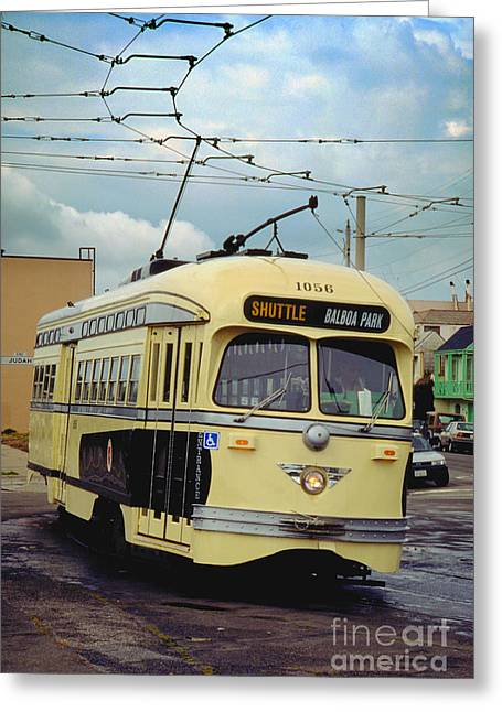 Pcc Greeting Cards - Kansas City-Missouri Tribute livery No. 1056 F-Line PCC San Fra Greeting Card by Wernher Krutein