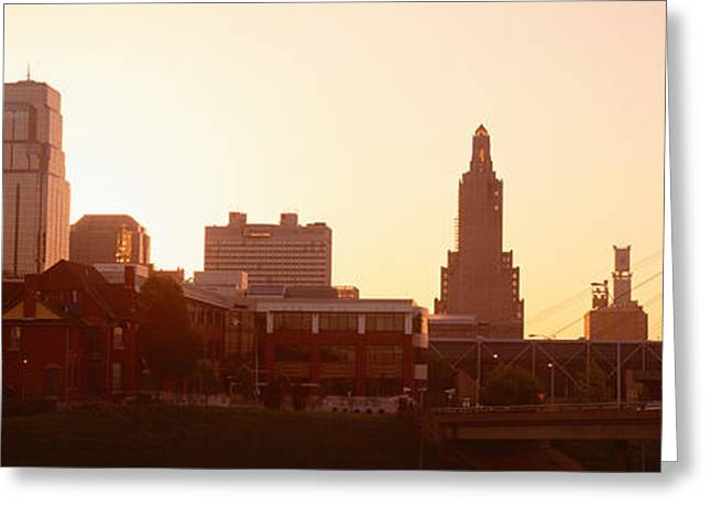 Convention Center Greeting Cards - Kansas City, Missouri, Usa Greeting Card by Panoramic Images