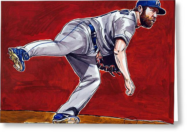 Kansas City Royals Greeting Cards - Kansas City Royals Closer Greg Holland Greeting Card by Dave Olsen