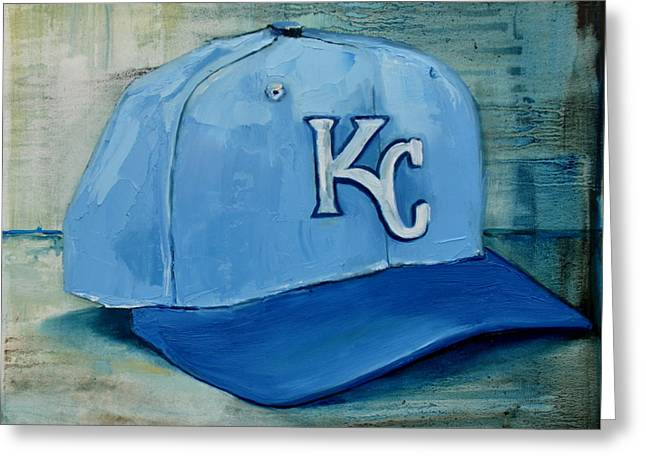 Baseball Art Greeting Cards - Kansas City Royals Greeting Card by Lindsay Frost