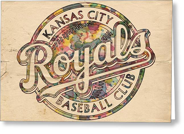 Kansas City Royals Greeting Cards - Kansas City Royals Logo Vintage Greeting Card by Florian Rodarte