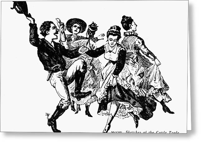 Mccoy Greeting Cards - Kansas: Dance Hall Greeting Card by Granger