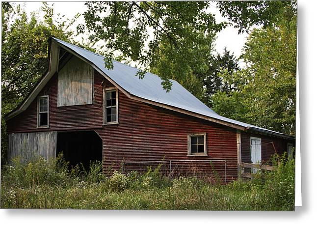 Barnstormer Greeting Cards - Kansas Hay Barn Greeting Card by Guy Shultz